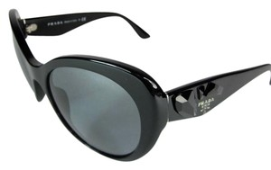 Prada Glam Wrap - Black with Jewels & Logo, Sunglasses