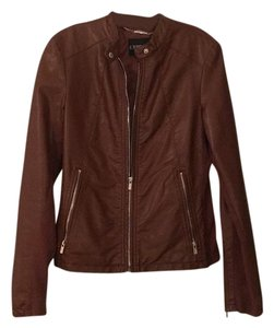 Express Cognac Leather Jacket