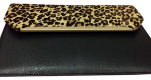 Silpada Strap BLACK LEATHER AND COWHIDE Clutch