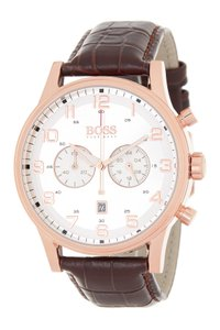 Hugo Boss Hugo Boss Mens Chronograph Leather Watch 1512921