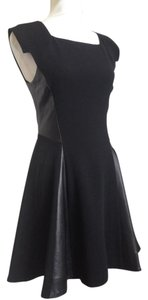Rag & Bone short dress Black Leather Sleeveless A-line on Tradesy