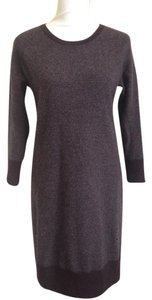 Rag & Bone short dress dark wine and grey Cashmere Sweater Bodycon Wool 3/4 Sleeve on Tradesy
