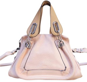 Chloé Tote Small Leather Satchel in pink