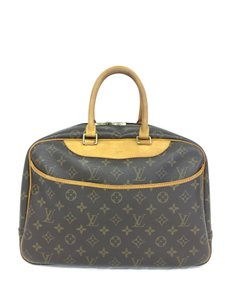 Louis Vuitton Lv Monogram Scalloped Deauville Canvas Tote in brown