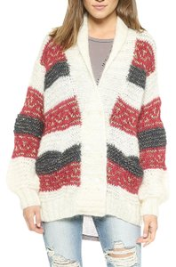 Mes Demoiselles Anthropologie Striped Sweater Jacket French Coat Buttondown Cardigan