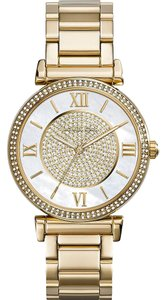 Michael Kors Catlin Mother of Pearl Dial Gold-plated Ladies Watch MK3332