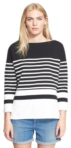 Vince Knit Cotton Striped Nautical Sweater