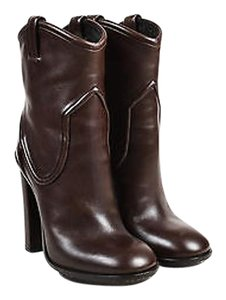 Gucci Runway Leather Brown Boots