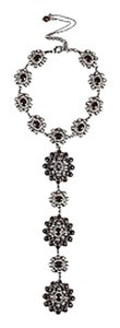 Chanel Chanel K Pre Fall Runway Silver Tone Burgundy Studded Gripoix Necklace
