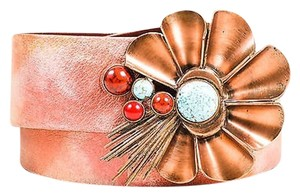 Christian Lacroix Vintage Christian Lacroix Copper-tone Red Turquoise Stone Wide Belt