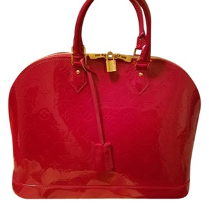 Louis Vuitton Alma Lv Satchel in Red/Pomme D'Amour