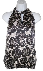 White House | Black Market Roses Satin Tank Floral Top