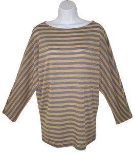 CAbi Striped Boxy Knit Oversized T Shirt