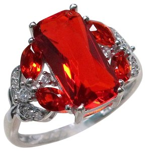 9.2.5 Gorgeous fire ruby huge cocktail ring size 6