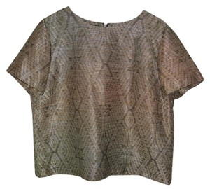 Lafayette 148 New York Metallic Jacquard Top
