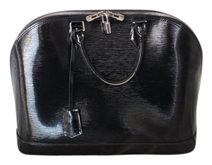 Louis Vuitton Alma Vernis Satchel in Black