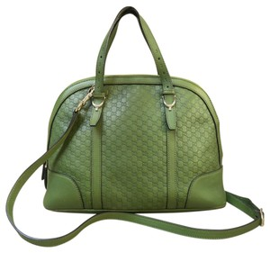Gucci Nice Leather Satchel in OliveDrab