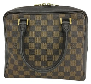 Louis Vuitton Silver Damier Ebene Brera Canvas Tote in brown