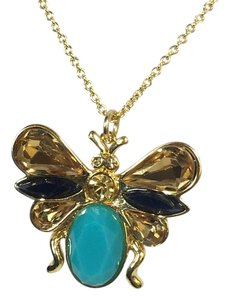 Kate Spade Kate Spade Unwanted Visitors Winged Bug Pendant Necklace NWT