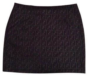 Fendi Mini Skirt Black