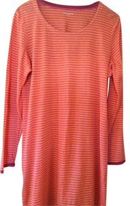 Eileen Fisher short dress orange and pink Linen Knit Fresh Stripes on Tradesy