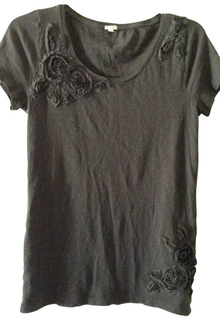 Preload https://item2.tradesy.com/images/jcrew-dark-gray-cute-flowered-accents-and-beading-tee-shirt-size-8-m-200621-0-0.jpg?width=400&height=650