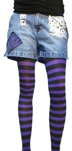 Xhilaration Zebrastripe Medium Sale 15off Mini/Short Shorts Blue/Purple/Black