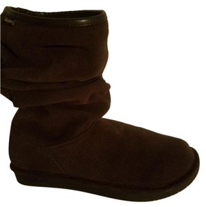 Skechers Non-slip Sole Faux Fur Lining Chocolate Boots
