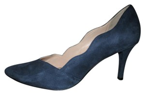 Cole Haan Leather Suede navy Pumps