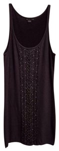 A|X Armani Exchange short dress Dark Grey Wool Stretchy Cotton Studded Winter on Tradesy