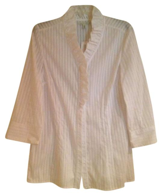 Preload https://item5.tradesy.com/images/banana-republic-white-stretch-blouse-size-14-l-200624-0-0.jpg?width=400&height=650