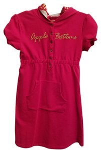 Apple Bottoms short dress Fuschia Stretchy Cotton Hooded on Tradesy