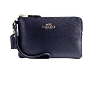 Coach Wallet Card Navy Wallet New Wristlet in Midnight
