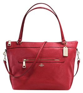 Coach Cora Domed Border Studed 37238 Satchel in Red