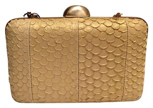 Inge Christopher Gold Clutch