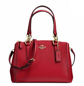 Coach Carryall 34797 Satchel in Red light gold one