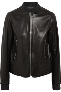 Rag & Bone Bomber Leather Black Jacket