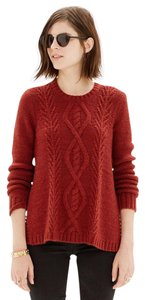 Madewell Alpaca Cable Knit Sweater