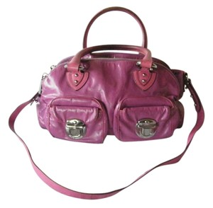 Marc Jacobs Leather Satchel in Lavender