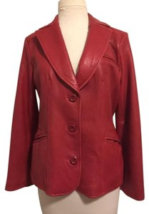 Preston & York Red Leather Jacket