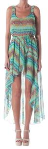 Green Multi Maxi Dress by Show Me Your Mumu Hi-low Swing Tunic Maxi Bohemian Festival