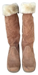 Other Tall Tan Fur Full Length DARK TAN Boots