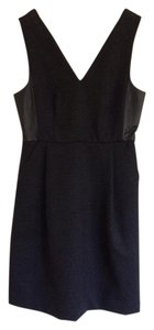Madewell Leather Insets V-neck Sleeveless Dress
