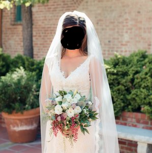 Cathedral Length - Light Ivory - Scalloped Lace - Veil