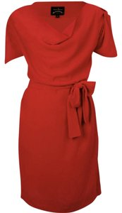 Vivienne Westwood Crepe Pockets Drape Knee Length Dress