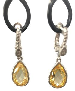 Judith Ripka Canary Crystal with White Sapphires
