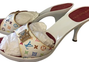 Louis Vuitton White multi colors Platforms