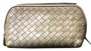 Bottega Veneta Nude Clutch