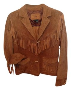 Ralph Lauren Rust Leather Jacket