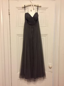 Jenny Yoo Shadow Grey Annabelle' Convertible Tulle Column Dress Dress